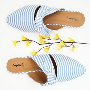 Cupid Blue Striped Sandels